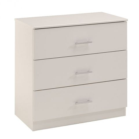 "Commode 3 Tiroirs ""Galaxy"" Blanc"