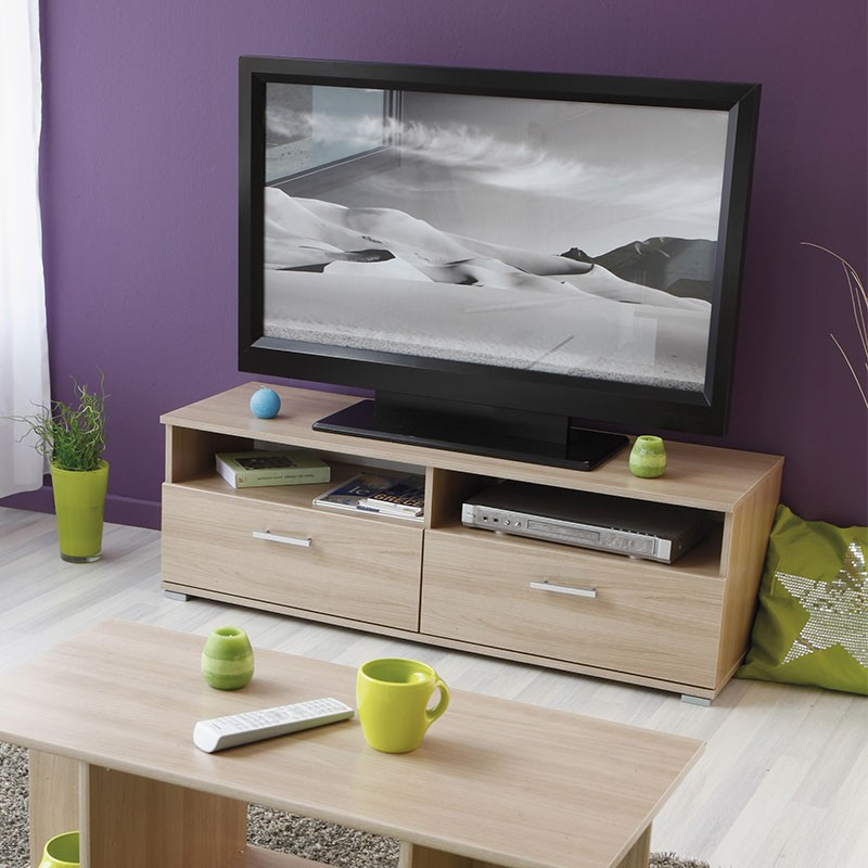 meuble tv galaxy naturel
