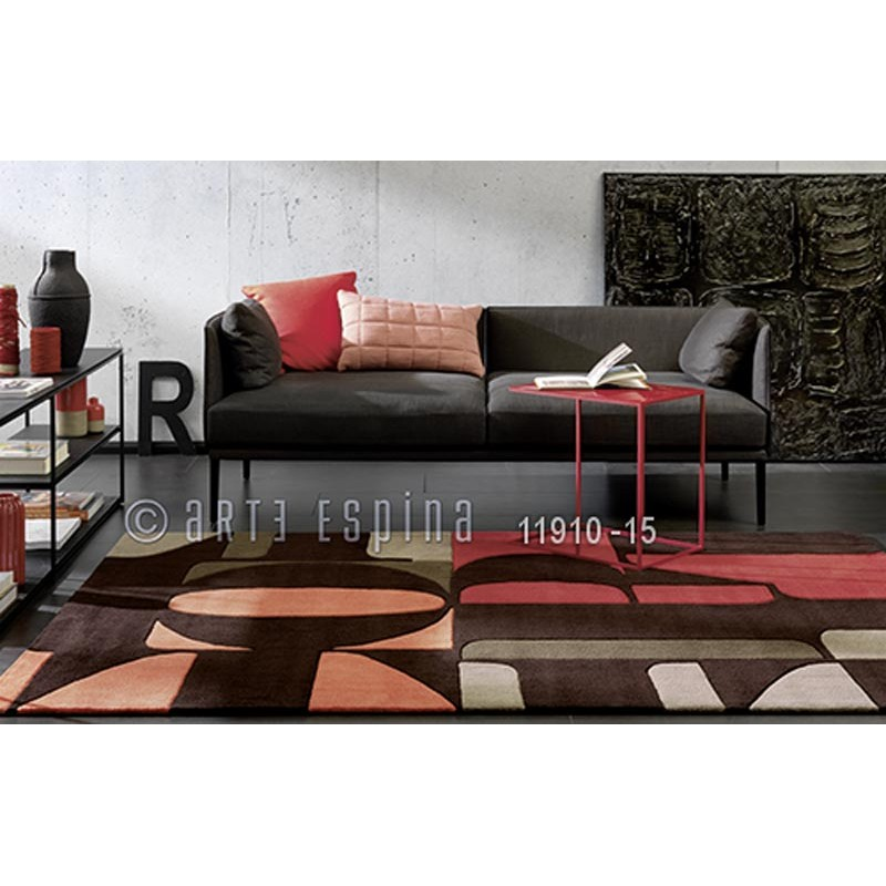 tapis arte espina lexis rouge. Black Bedroom Furniture Sets. Home Design Ideas