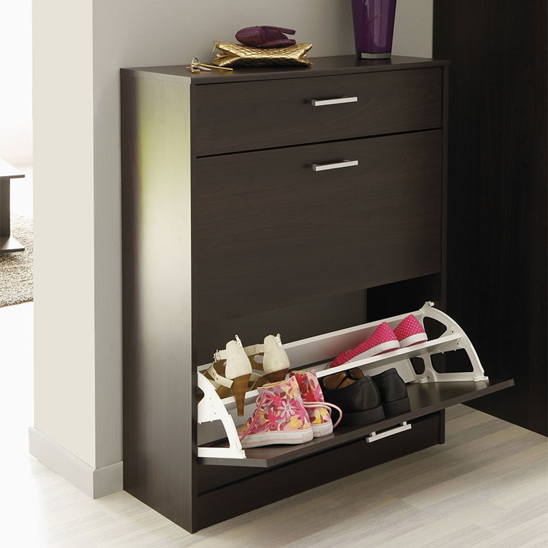 meuble chaussures 3 compartiments galaxy caf. Black Bedroom Furniture Sets. Home Design Ideas