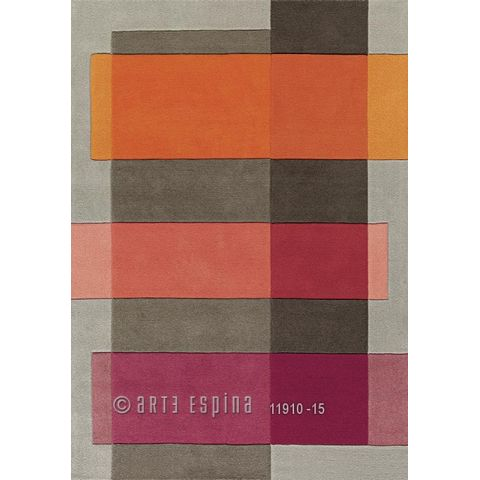 Tapis Arte Espina Intersection Rouge