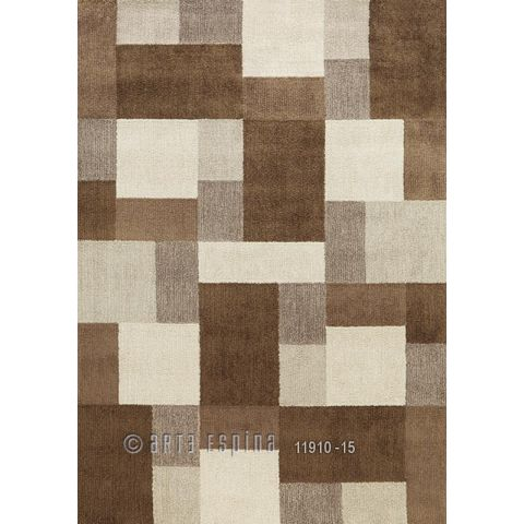 "Tapis Arte Espina ""Square Dance"" Marron"