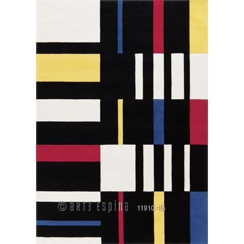 "Tapis Arte Espina ""Coloured Cubes"" Noir"
