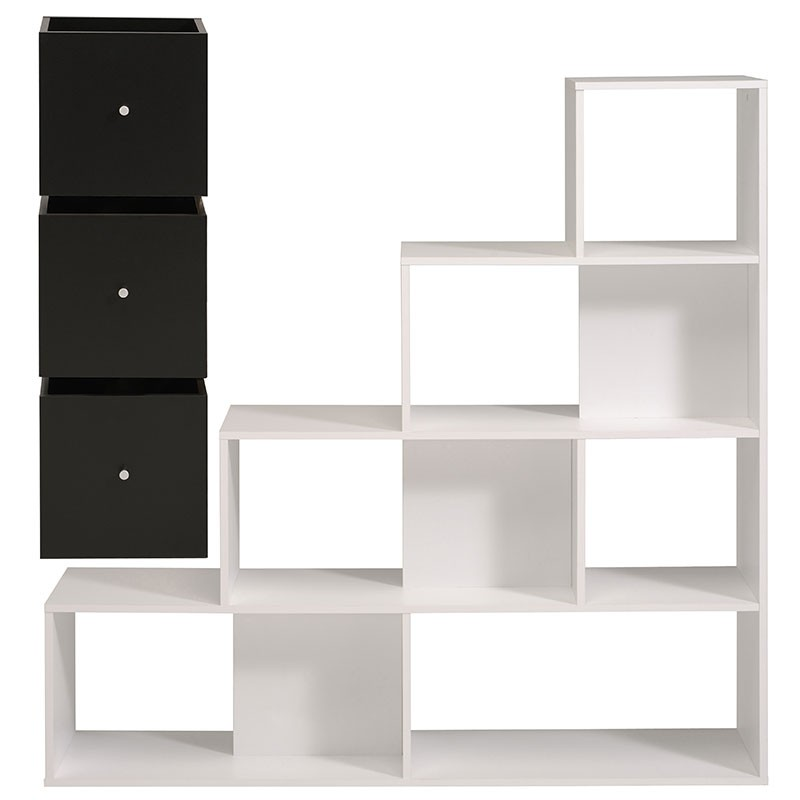 biblioth que 9 cases cubes cubo blanc. Black Bedroom Furniture Sets. Home Design Ideas