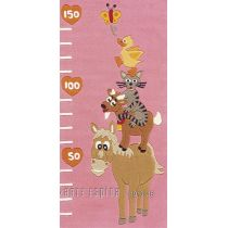 "Tapis Arte Espina ""Kids Animaux Mesure"" Rose"