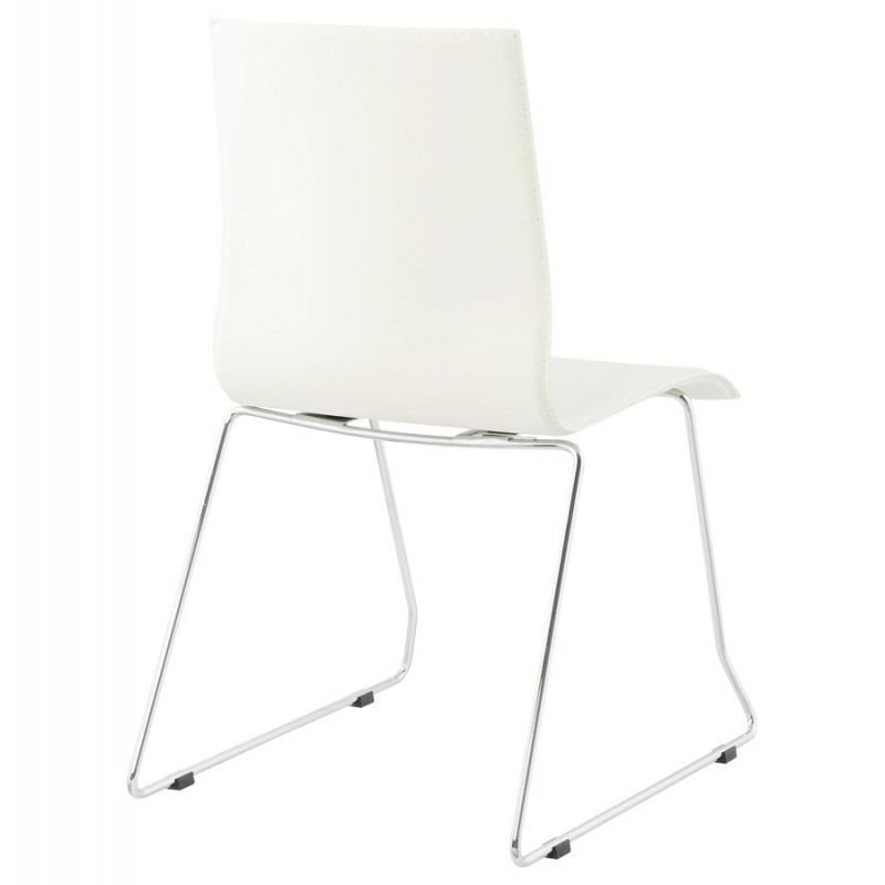 Chaise design kyara blanc for Salle a manger kyara