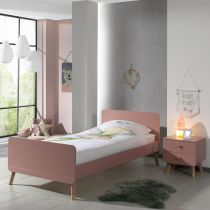 "Pack - Lit Enfant & Chevet ""Billy"" 90x200cm Rose"