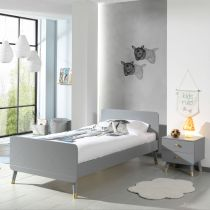 "Pack - Lit Enfant & Chevet ""Billy"" 90x200cm Gris"