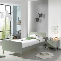"Pack - Lit Enfant & Chevet ""Billy"" 90x200cm Vert"