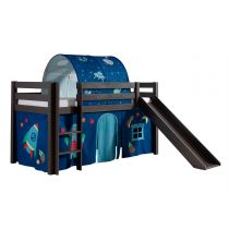 """Pack - Lit Enfant, Tente & Tunnel """"Pino Astronaute II"""" Taupe"""