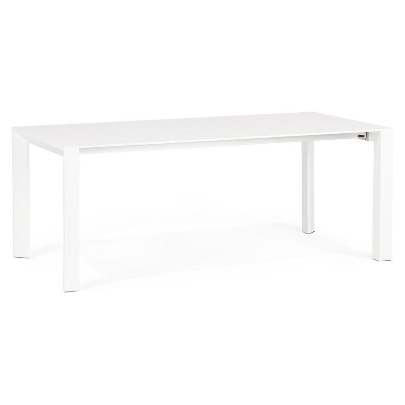 Table de repas extensible serty 190 270cm blanc for Table extensible 270