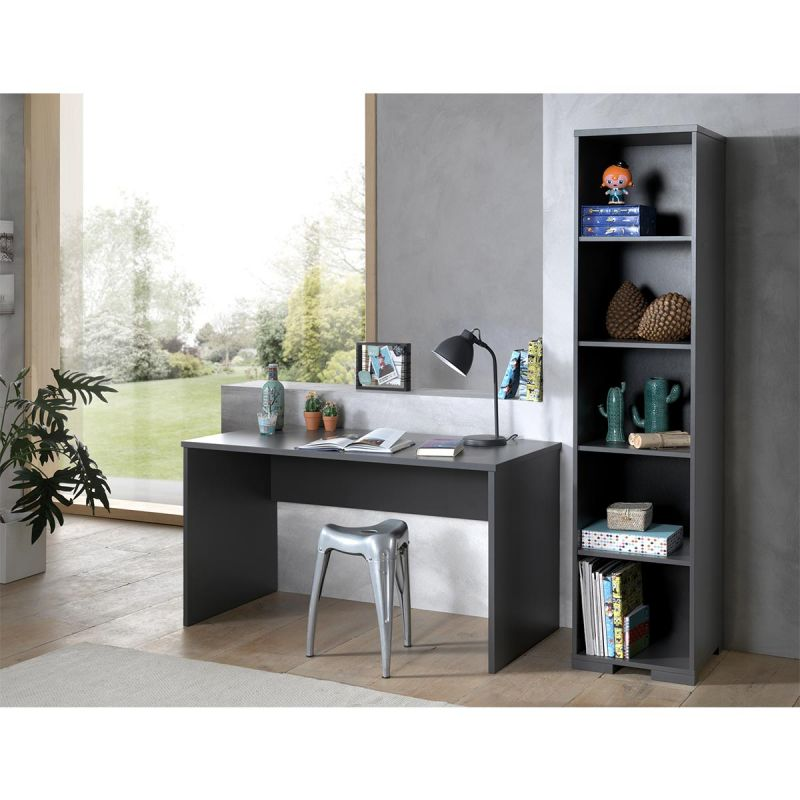Pack - Bureau Enfant & Bibliothèque  London  Gris Anthracite
