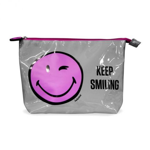 Trousse à Maquillage Smiley World® Rose