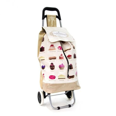 "Chariot de Shopping ""Gourmandise"" Beige"