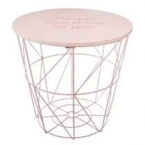 "Table d'Appoint Design Enfant ""Kumi"" 30cm Rose"