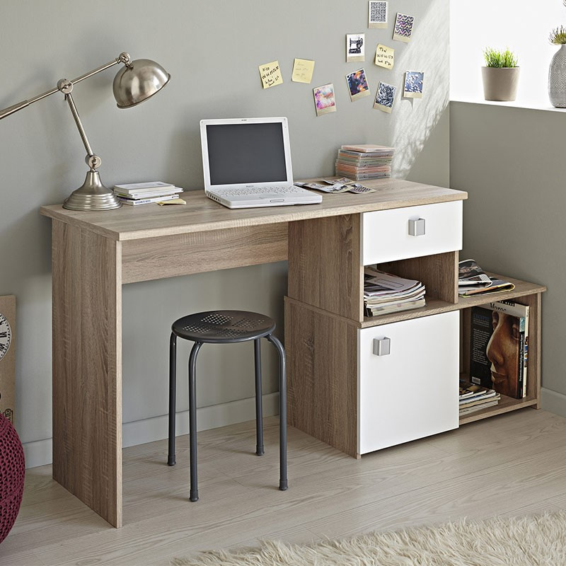 bureau 2 positions iron naturel. Black Bedroom Furniture Sets. Home Design Ideas