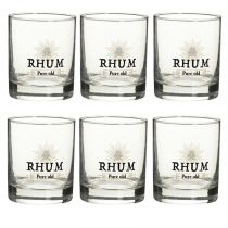 "Lot de 6 Verres à Rhum ""Blend"" 30cl Transparent"