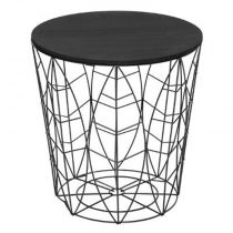 "Table d'Appoint Design en Métal ""Leaf"" 41cm Noir"