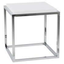 """Table d'Appoint Design """"Kube"""" 42cm Blanc"""