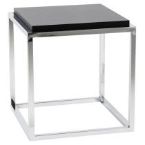 "Table d'Appoint Design ""Kube"" 42cm Noir"