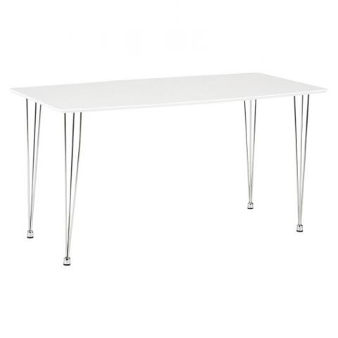 "Table de Repas ""Walnut"" 140cm Blanc"
