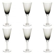 "Lot de 6 Verres à Vin ""Marc"" 28cl Gris"