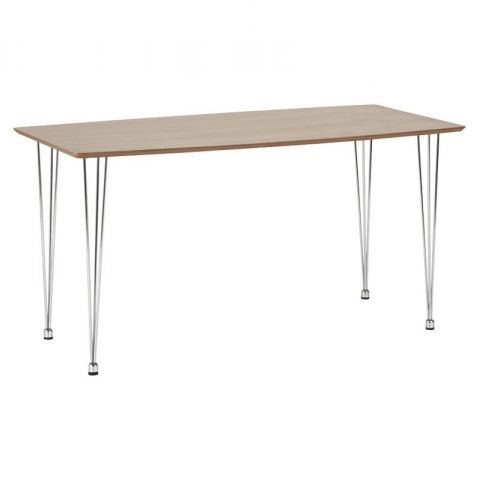 "Table de Repas ""Walnut"" 140cm Marron"