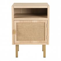 "Table de Chevet 1 Niche & 1 Porte ""Nalia"" 59cm Naturel"