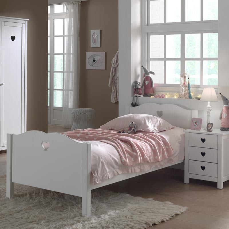 lit enfant amori blanc. Black Bedroom Furniture Sets. Home Design Ideas
