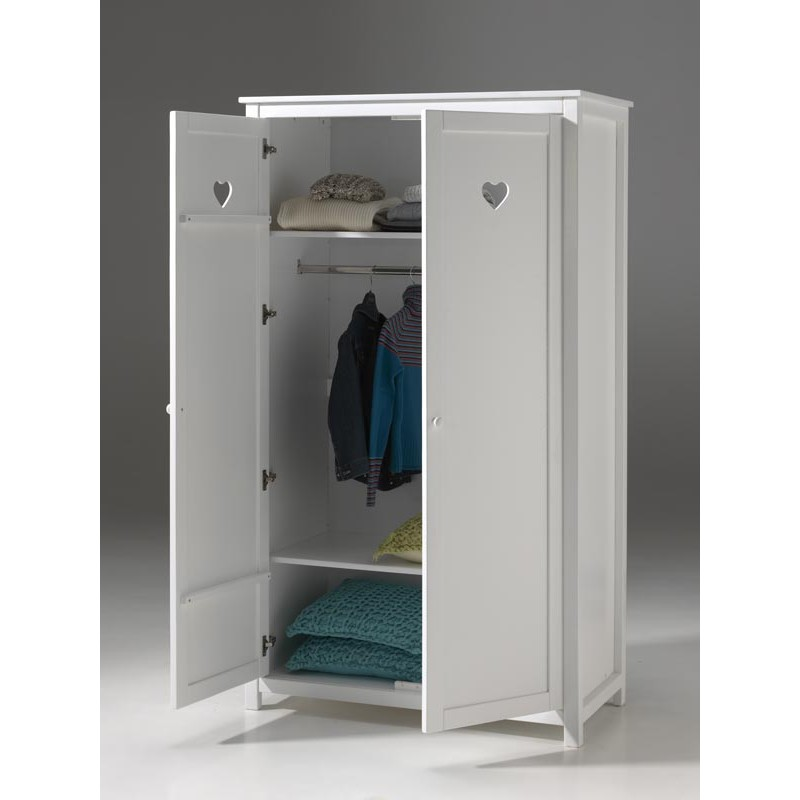 armoire 2 portes amori blanc. Black Bedroom Furniture Sets. Home Design Ideas