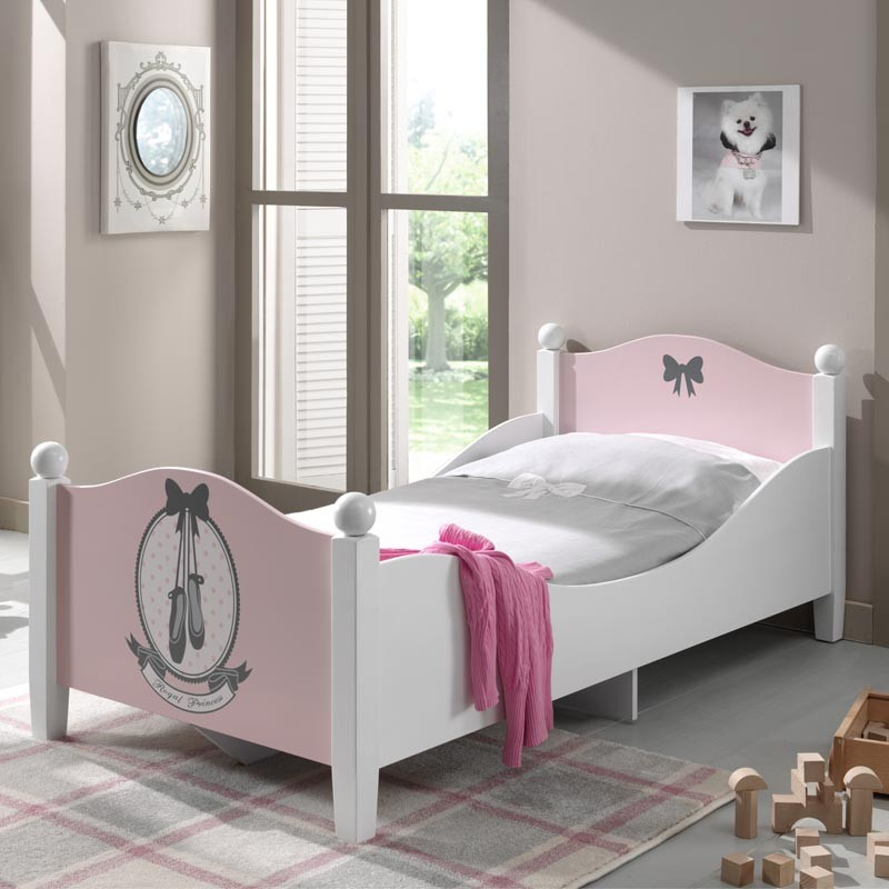lit enfant ballerine rose blanc. Black Bedroom Furniture Sets. Home Design Ideas