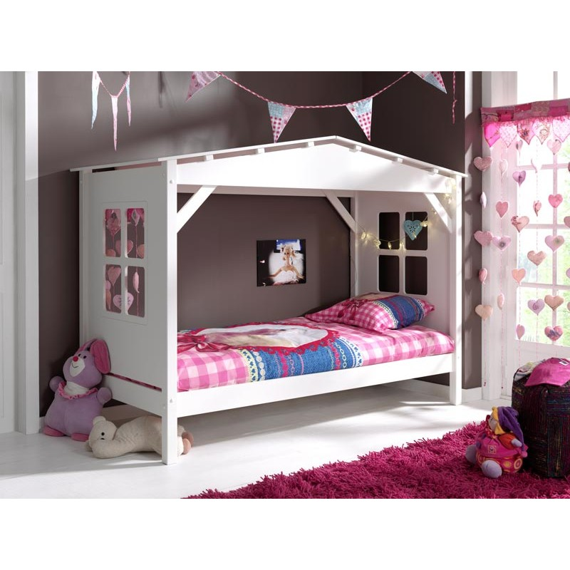 lit enfant cabane home blanc. Black Bedroom Furniture Sets. Home Design Ideas