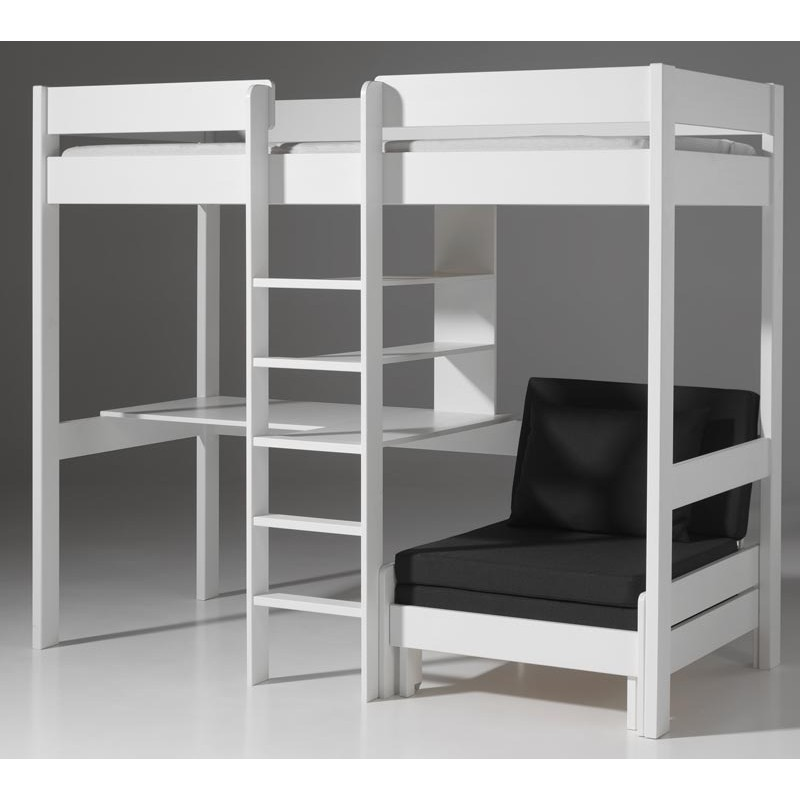 lit mezzanine bois blanc. Black Bedroom Furniture Sets. Home Design Ideas
