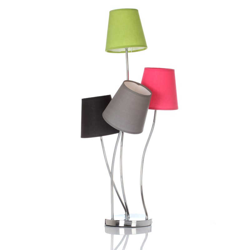 lampadaire 4 t tes inox multicolore. Black Bedroom Furniture Sets. Home Design Ideas