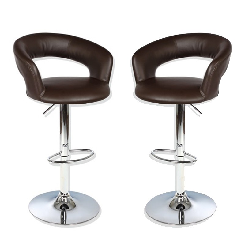 lot de 2 tabourets de bar swan chocolat. Black Bedroom Furniture Sets. Home Design Ideas