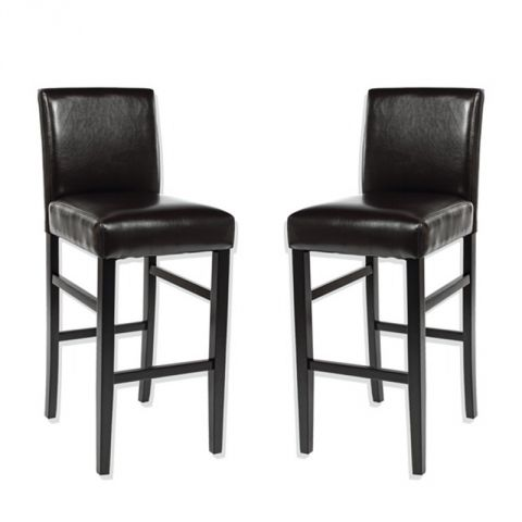 "Lot de 2 Chaises de Bar ""Rustik"" Marron"