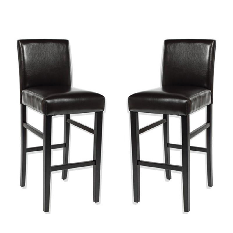 lot de 2 chaises de bar rustik marron. Black Bedroom Furniture Sets. Home Design Ideas