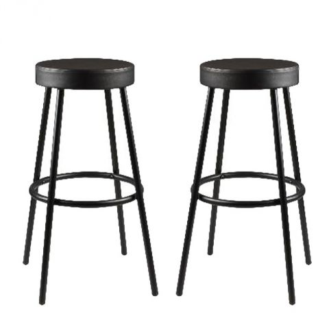 "Lot de 2 Tabourets de Bar ""Melvin"" Noir"