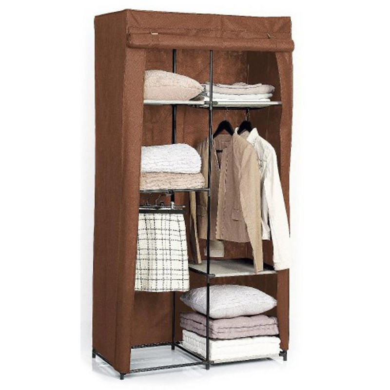 armoire dressing modulable marron. Black Bedroom Furniture Sets. Home Design Ideas