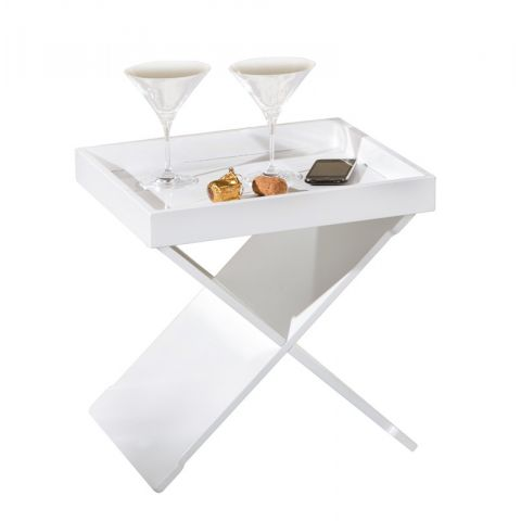 "Table D'appoint Design ""Xeno"" 40cm Blanc"