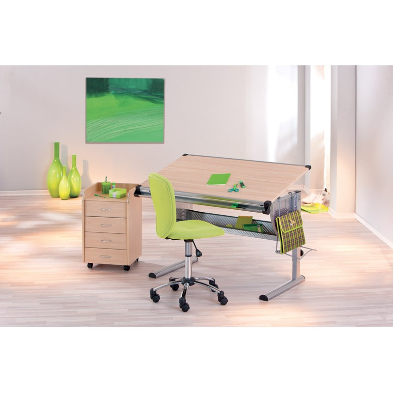 chaise de bureau colors vert. Black Bedroom Furniture Sets. Home Design Ideas