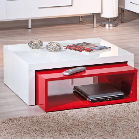 """Table Basse """"Windy"""" Rouge"""