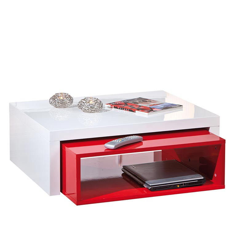 Table basse windy rouge for Table basse rouge