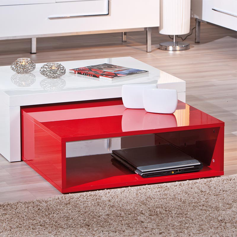 Table basse exterieur rouge - Table basse exterieure ...