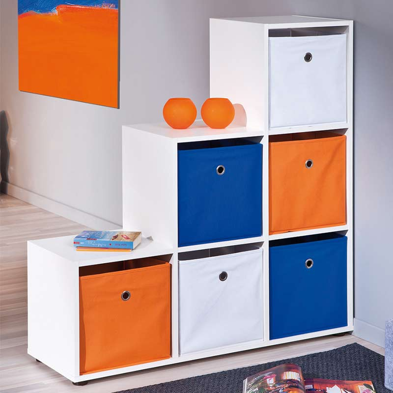bo te de rangement pliable kase bleu. Black Bedroom Furniture Sets. Home Design Ideas