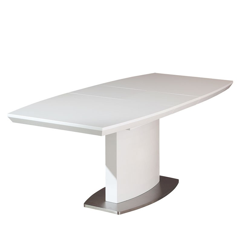 Table de salle manger extensible galas 160 200cm blanc for Table de salle a manger 200 cm