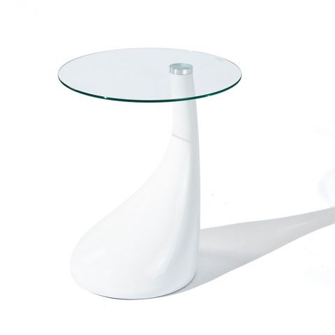 "Table d'Appoint ""Louis"" 54cm Blanc"
