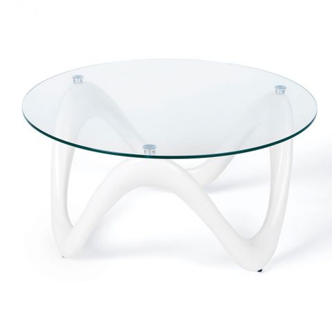 "Table Basse Design ""Valentina"" Blanc"