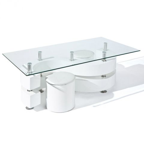 "Table Basse Design ""Vertigo"" Blanc"