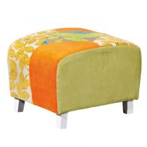 "Pouf Patchwork ""Aquarelle"" Multicolore"